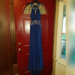Morgan & Co. Beautiful Blue Long Dress